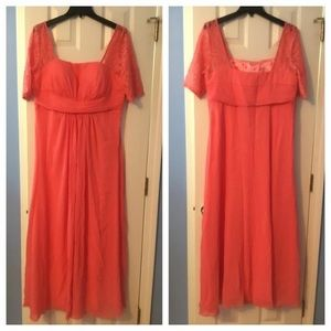 Formal/bridesmaid dress, size 14, coral